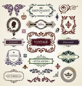 Elementos de design vintage — Vetorial Stock