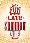 Summer typography — Stock Vector