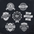 Vintage premium quality labels — Vector de stock