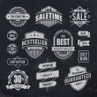 Vector de stock : Chalk drawn sale emblems
