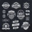 Chalk drawn sale emblems — Stock Vector