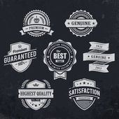 Vintage premium quality labels — Stock Vector