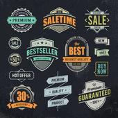 Grunge sale emblems — Stock Vector