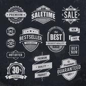 Emblemas de venda de giz desenhada — Vetorial Stock