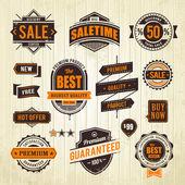 Emblemas de venda do grunge — Vetorial Stock