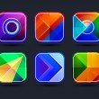 Abstract app icons frames — Stock Vector