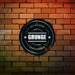 Grunge circle banner on brick wall — Image vectorielle
