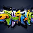 Bright graffiti lettering — Stock Vector