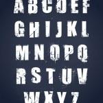 Grunge alphabet — Stock Vector