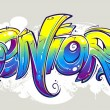 Stock Vector: Graffiti lettering
