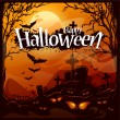 Cartoon halloween background — Image vectorielle
