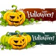 Stock Vector: Grunge halloween banners