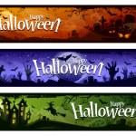 kreslený halloween nápisy — Stock vektor