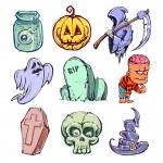 Funny halloween characters — Stock Vector #32182815