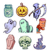 Funny halloween characters — Stock Vector
