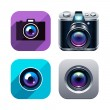 Photo app icons set — Stock Vector