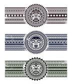 Polynesian pattern bracelets — Stock Vector