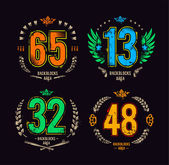 Gangster lucky numbers — Stock Vector