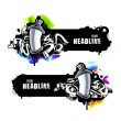 Graffiti banners — Stock Vector