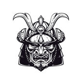 Samurai mask clip-art — Vetorial Stock