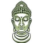 Vector buddha head — Stock Vector #37734195