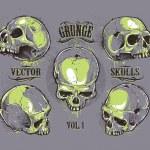 Grunge skulls vector set — Stock Vector #39216359