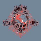Grunge skull print — Stock Vector