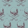 Grunge skulls seamless — Stock Vector