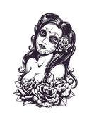 Dag van dode sexy meisje — Stockvector