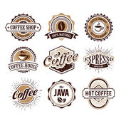 Retro Styled Coffee Emblems — Stock Vector