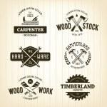 Vintage Carpentry Emblems — Stock Vector #50331003
