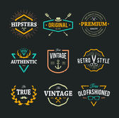 Vector Hipster Emblems — Stock Vector