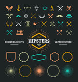 Hipster Design Elements — Vettoriale Stock