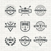 Hipster Emblems — Stock Vector