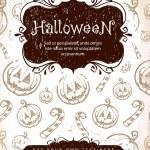 Hand-drawn halloween background — Stock Vector #7349635