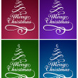 Calligraphic Christmas lettering — Stock Vector #7588212