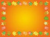 Marco de otoño de hojas de arce — Vector de stock