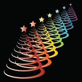 Colorful christmas tree — Stock Vector
