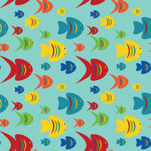 Seamless fishes background — Stock Vector