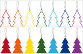 Etiquetas de etiqueta de preço de árvore de natal — Vetor de Stock