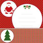 Jul och nyårs kort — Stockvektor