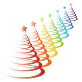 Colorful christmas trees — Stock Vector