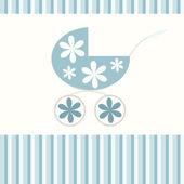 Spädbarn blå bakgrund — Stockvektor