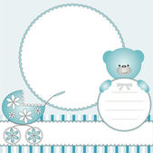 Babies blue background — Stock Vector