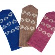 Hearts on mittens - Stock Photo