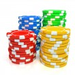 Simple Colored Casino chips — Stock Photo #12716119