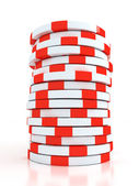 Simple Colored Casino chips — Stock Photo