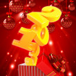 Stock Photo: Happy new year 2013 3d background