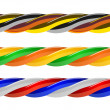 Multicolored computer cable isolated on white — Stock Vector
