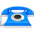 Old phone isolate on white background — Stock Photo